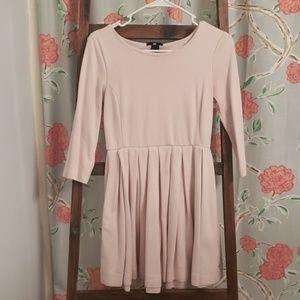 Blush three quarter sleeve dress.